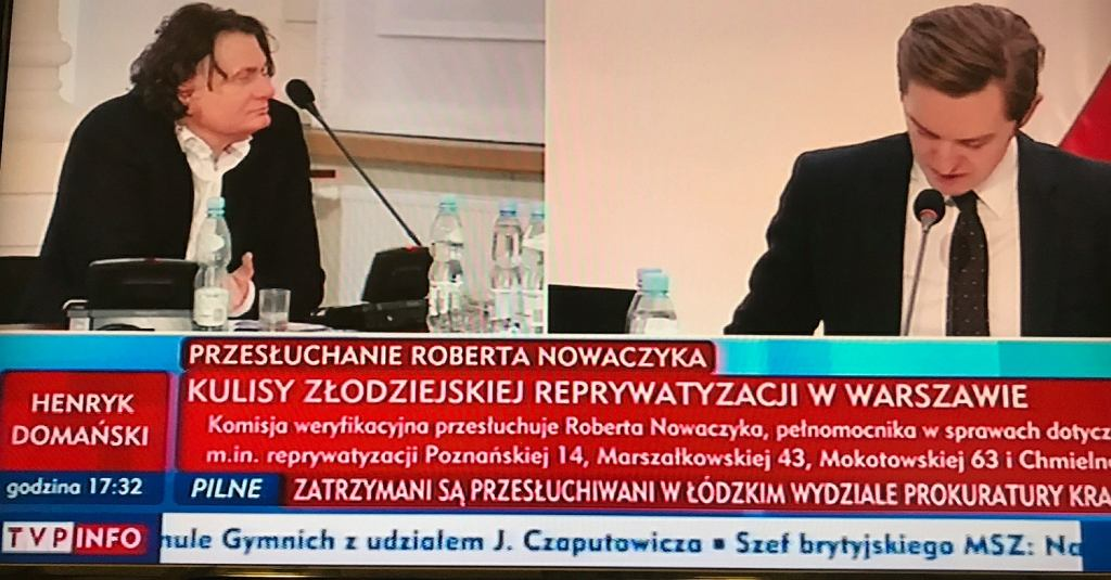 Przesłuchanie Roberta Nowaczyka przed komisja reprywatyzacyjną