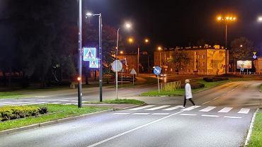 Aktywne przejście dla pieszych w Dąbrowie Górniczej
