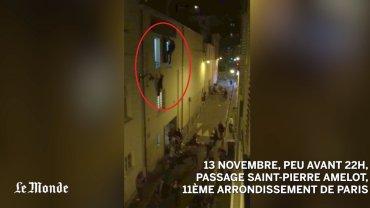 Nagranie momentu tuż po ataku na salę koncertową w Paryżu