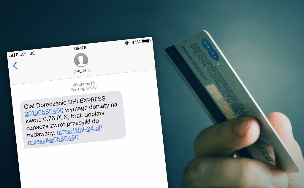 Fałszywe wiadomości SMS o niedopłacie
