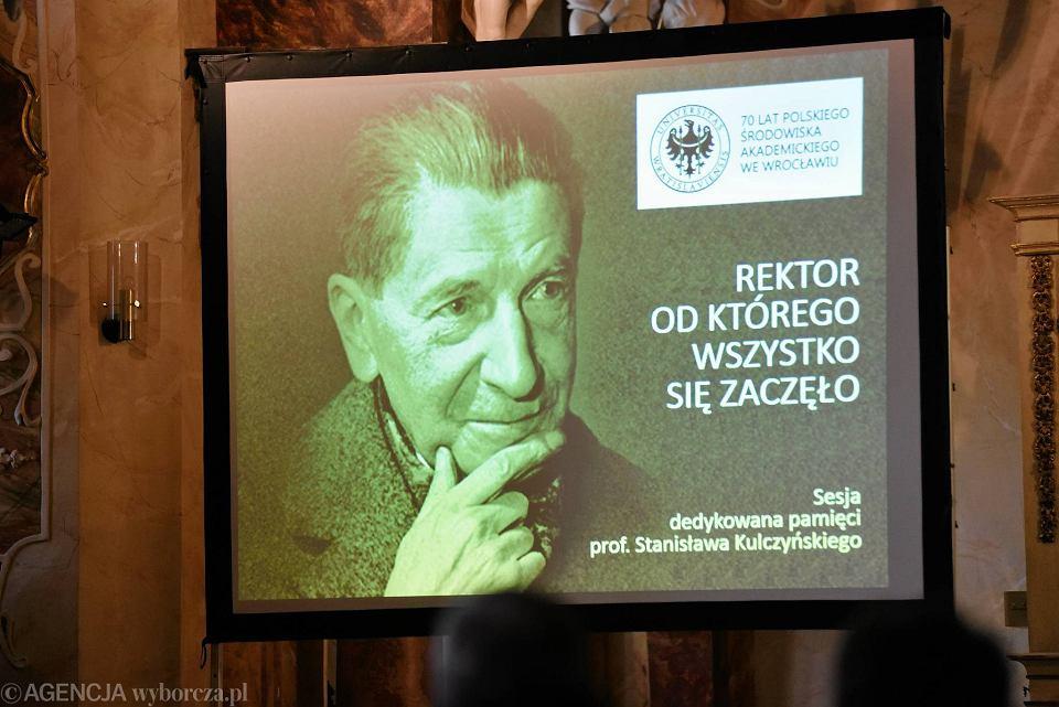 Stanisław Kulczyński, pierwszy powojenny wrocławski rektor, przed wojną rektor Uniwersytetu Lwowskiego