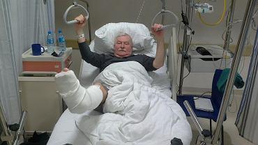 Lech Wałęsa trafił do szpitala ze złamaną nogą