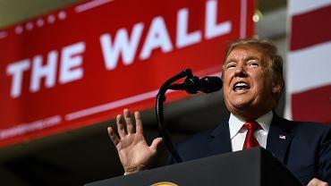 Prezydent USA Donald Trump przemawia w El Paso. 11 lutego 2019
