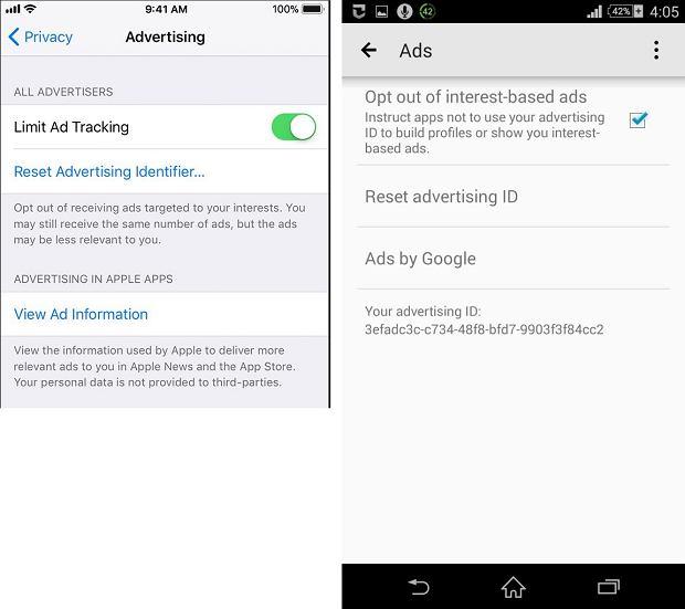 Reklamowe ID w smartfonie