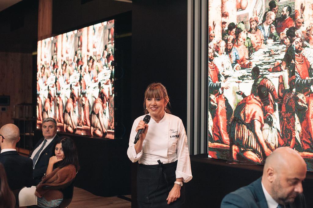 Silvia Baracchi, gwiazdkowa szefowa kuchni, autorka menu przygotowanego na uroczystą kolację '500 lat geniuszu Leonardo da Vinci w Warszawie