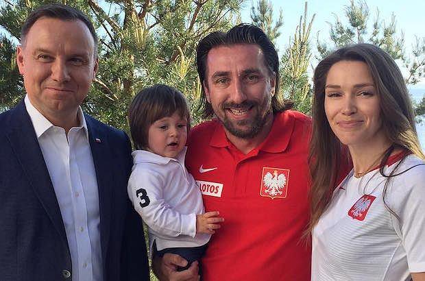 Andrzej Duda, Tomasz Iwan z synem, Natalia Jakuła