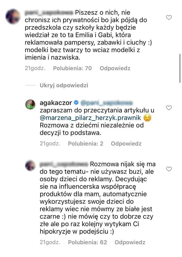 Agnieszka Kaczorowska tłumaczy ukrywanie twarzy córek. Fanka: Hipokryzja w podejściu