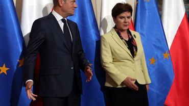 Donald Tusk i Beata Szydło. Wizyta przewodniczącego Rady Europejskiej w KPRM
