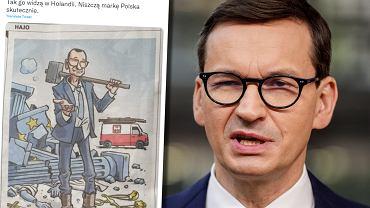 Karykatura Mateusza Morawieckiego