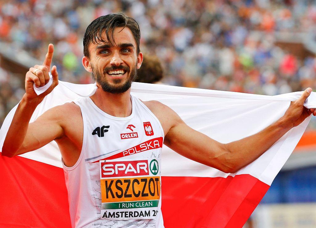 Adam Kszczot, złoty medalista mistrzostw Europy w biegu na 800 metrów