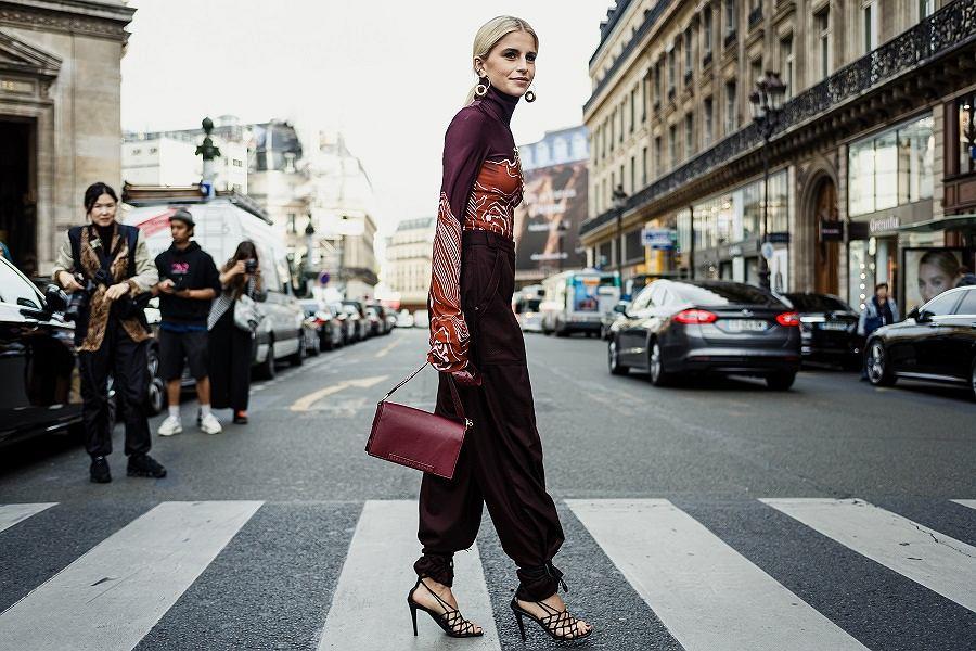 Blondynka na fashion weeku