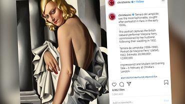 Londyn. Obraz Tamary Łempickiej stał się najdroższym polskim obrazem