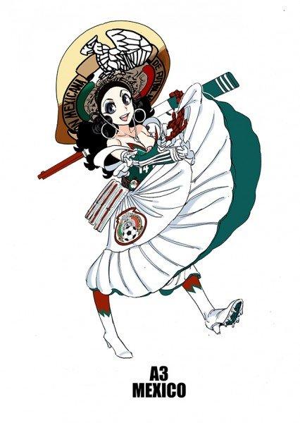 Zdjęcie numer 2 w galerii - Reprezentacje mundialu w Brazylii jako... dziewczęta z anime
