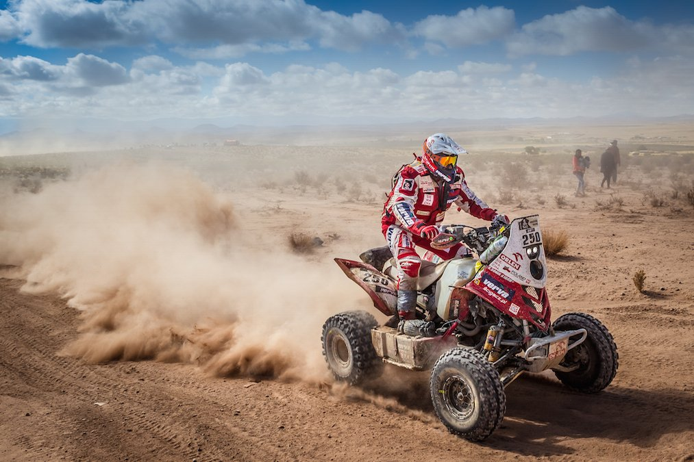 Rafał Sonik podczas Rajdu Dakar