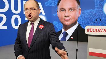 Europoseł Adam Bielan, rzecznik sztabu wyborczego prezydenta Andrzeja Dudy