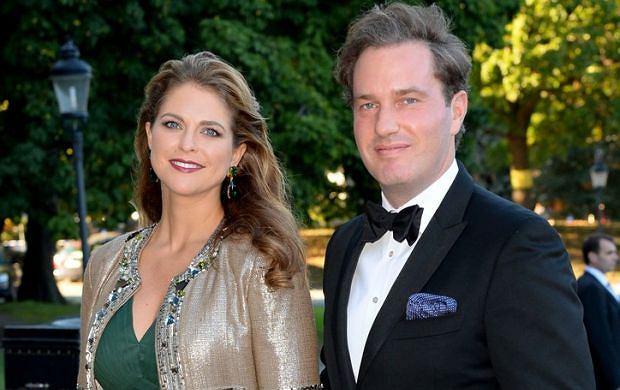 Szwedzka księżniczka Madeleine i jej mąż, Christophera O'Neill