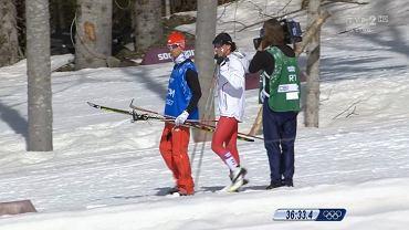 Justyna Kowalczyk zeszła z trasy biegu na 30 km na igrzyskach olimpijskich w Soczi