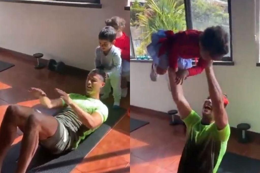 Cristiano Ronaldo - trening w domu
