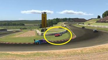 Robert Kubica obrócił się i uderzył w barierę podczas wyścigu 12H Spa.