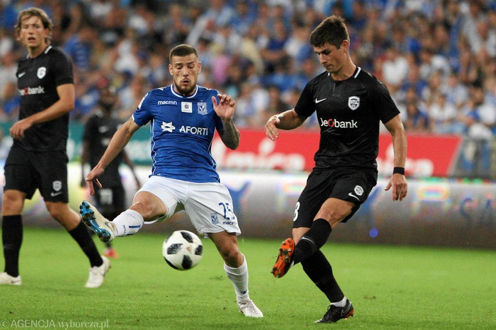 Pedro Tiba podczas meczu Lech Poznań - KRC Genk