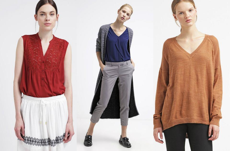 Bluzki i swetry z dekoltem V