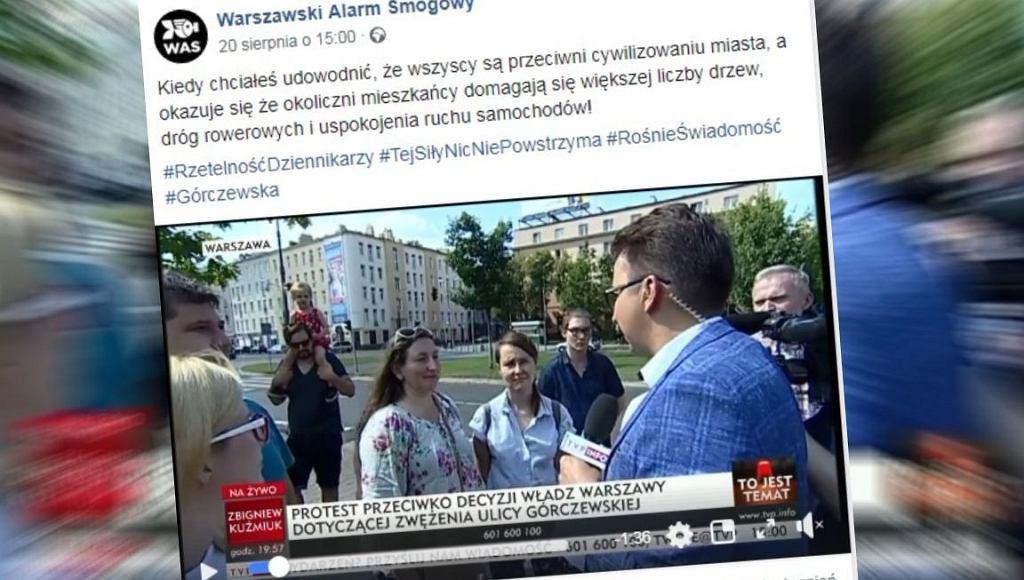 Mieszkańcy mieli 'protestować' przeciwko zwężeniu ul. Górczewskiej