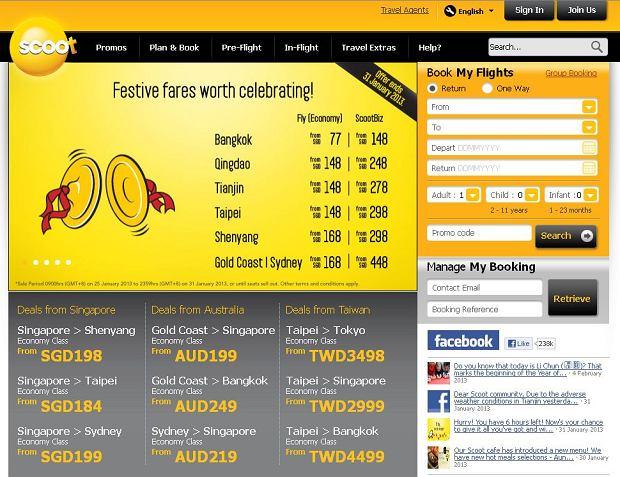 Flyscoot.com / print screen ze strony internetowej