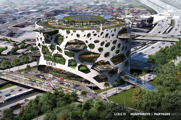 Tak może wyglądać port powietrzny dla latających taksówek. Projekt firmy Humphreys & Partners Architects