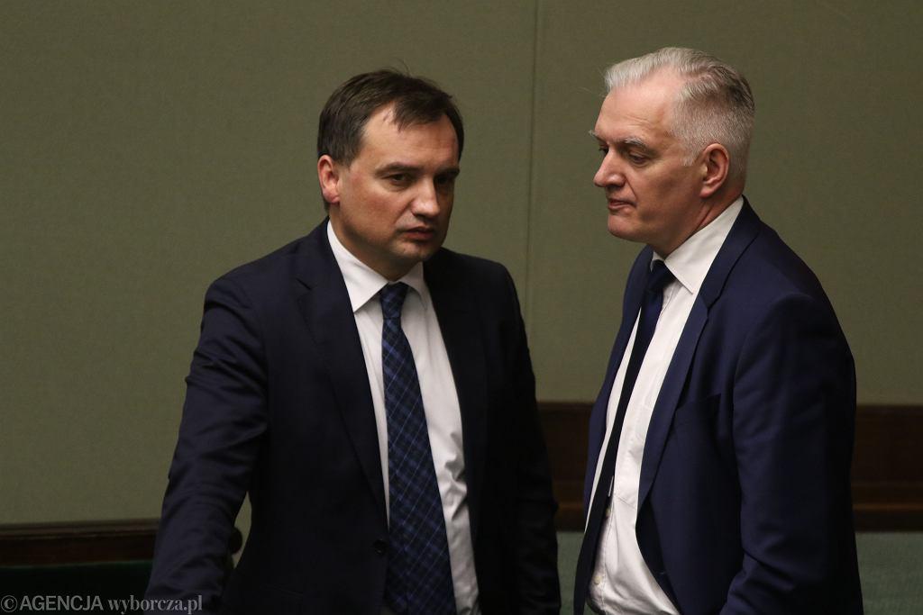 Zbigniew Ziobro i Jarosław Gowin (zdjęcie ilustracyjne)