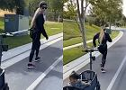 Khloe Kardashian zabrała True na jogging. Córka celebrytki dopinguje mamę podczas treningów