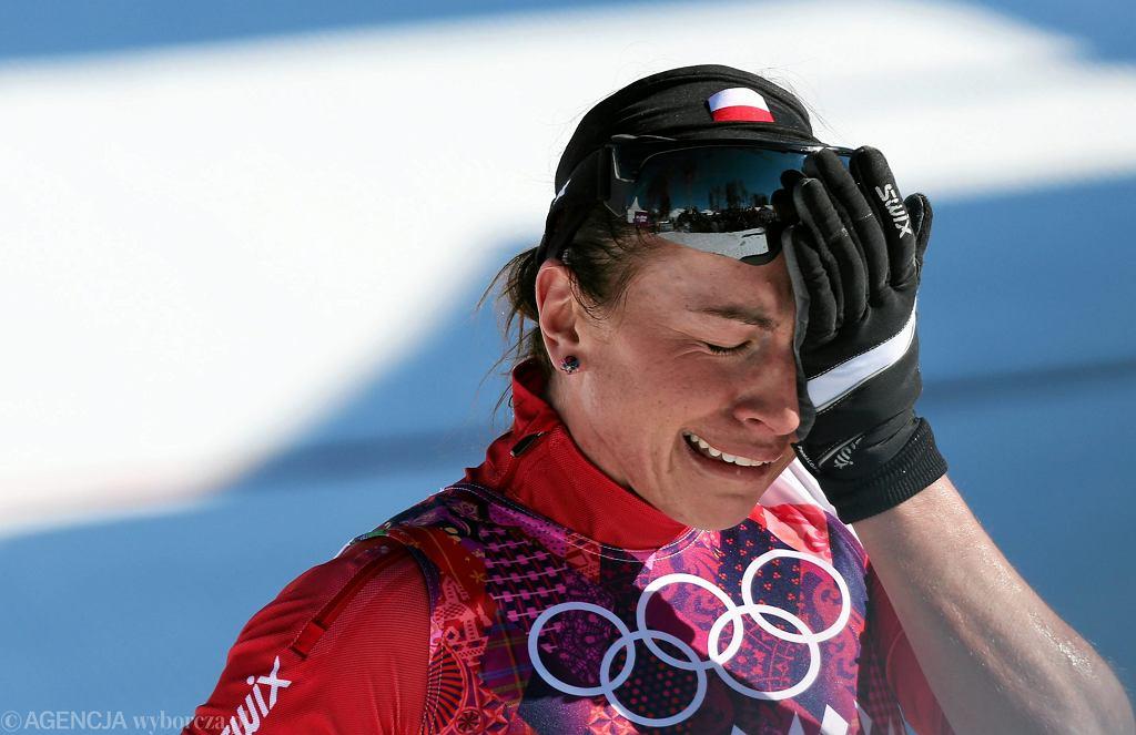 Justyna Kowalczyk na mecie biegu na 10 km