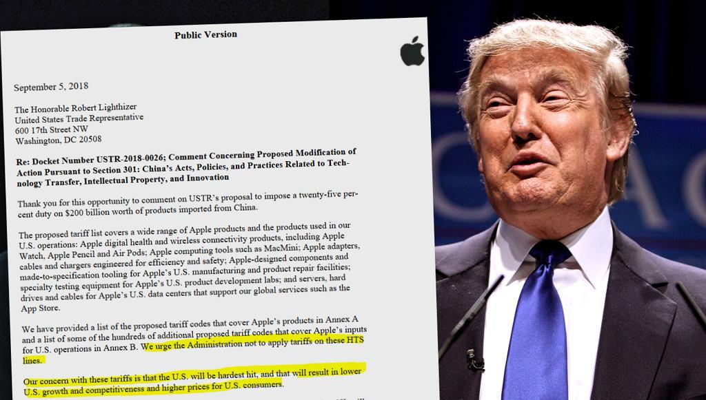 Apple postuluje, by administracja USA nie wprowadzała nowych ceł. Donald Trump odpowiada: chcecie ich uniknąć? Produkujcie w USA