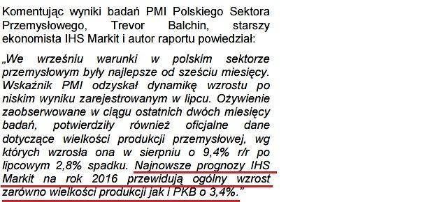 Markit prognozuje wzrost PKB w Polsce o 3,4 procent