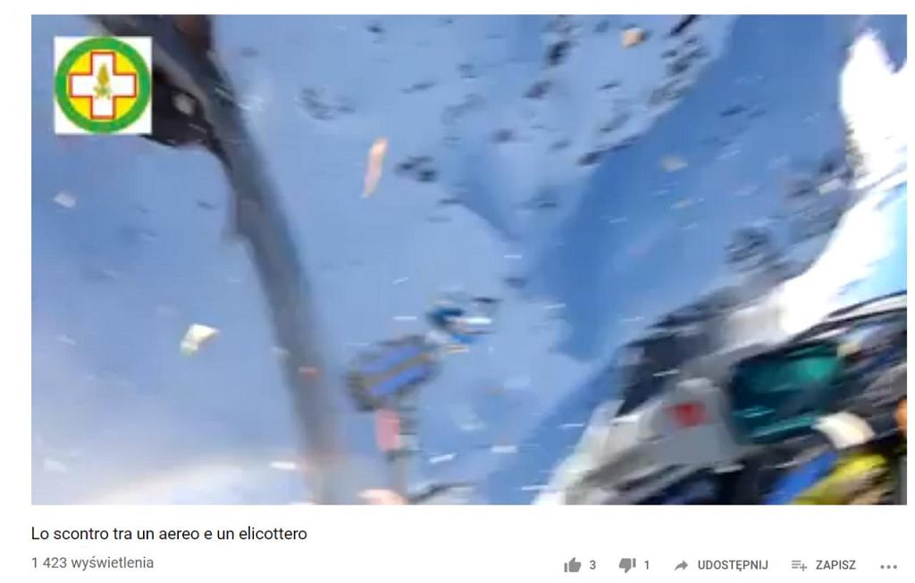Wypadek helikoptera w Alpach