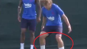 Antoine Griezmann podczas pierwszego treningu w FC Barcelonie