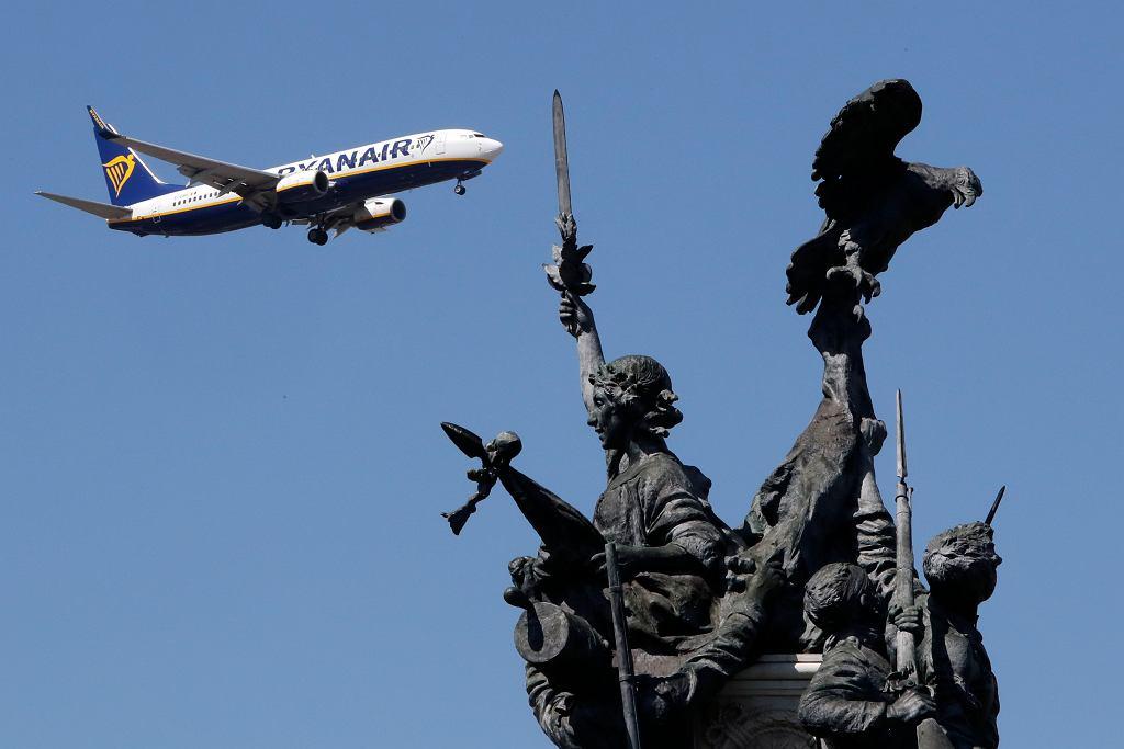 Samolot Ryanair zmuszony do lądowania w Mińsku