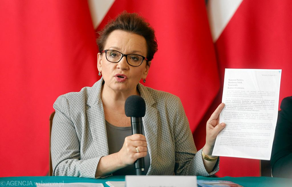 Konferencja pod hasłem 'Dobra szkoła' minister Anny Zalewskiej w Katowicach