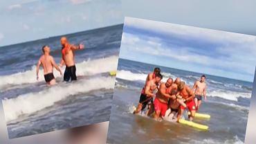 Władysławowo: Pijany mężczyzna nie chciał wyjść z wody. Ratownicy wyprowadzili go siłą