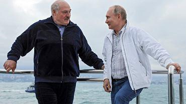El presidente de Bielorrusia, Alexander Lukashenko, y el presidente de Rusia, Vladimir Putin