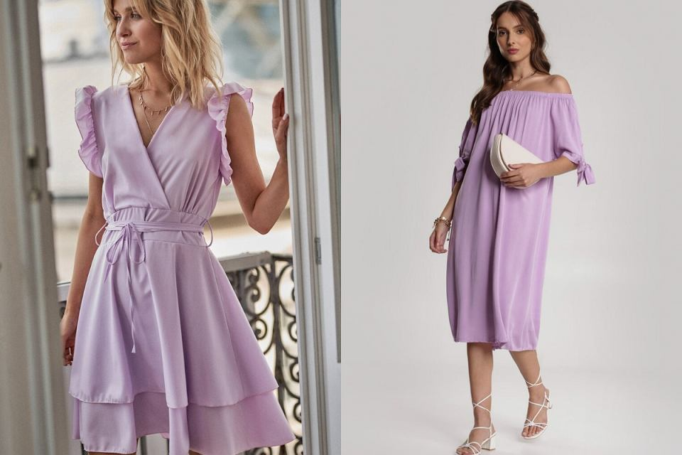 Liliowe sukienki na wesele