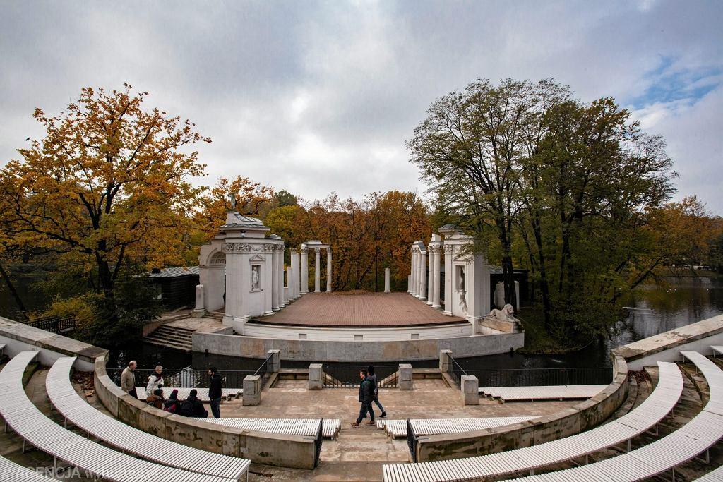 Łazienki Królewskie jesienią / Łazienki Królewskie jesienią Fot. Dawid Zuchowicz / Agencja Gazeta