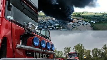 Stobno: Pożar stacji demontażu pojazdów
