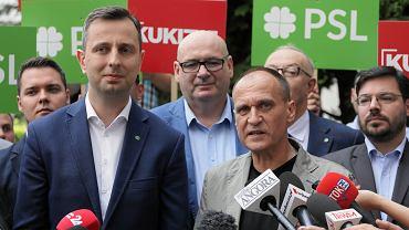 Koalicyjna konferencja prasowa Kukiz  15 i Polskiego Stronnictwa Ludowego w Warszawie