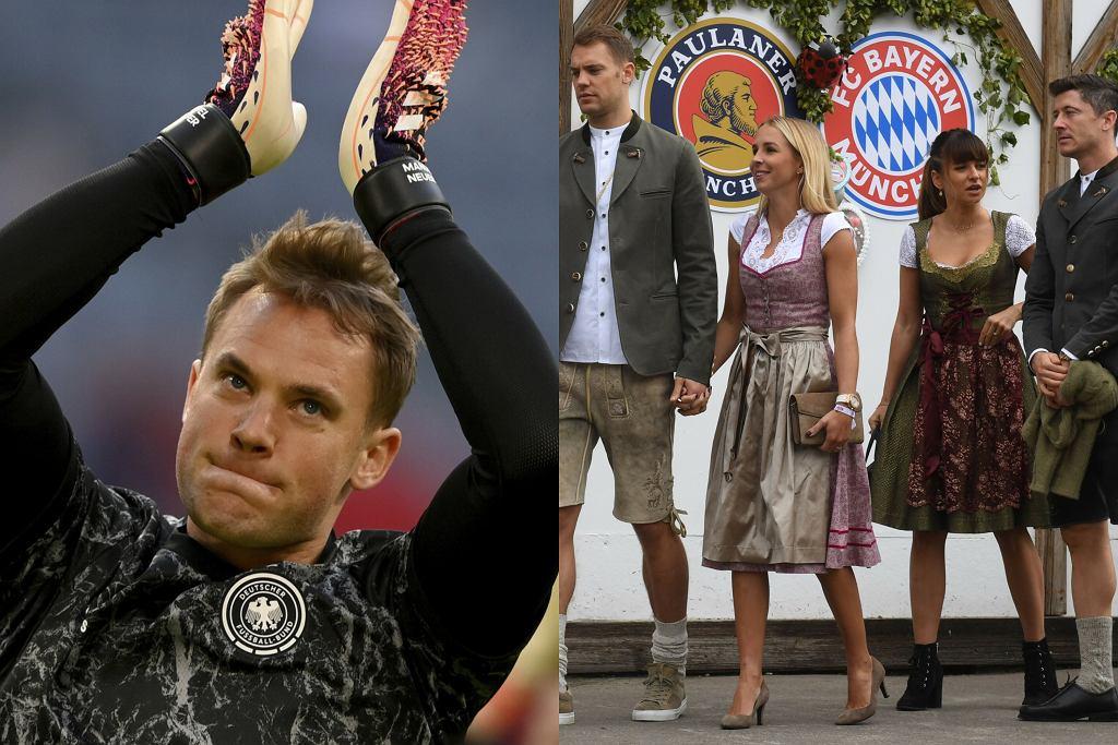 Manuel Neuer z żoną, Lewandowscy
