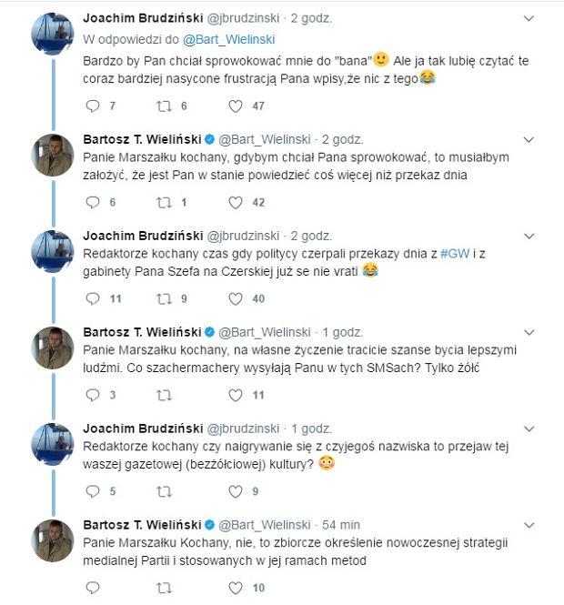 Dyskusja Joachima Brudzińskiego i Bartosza Wielińskiego
