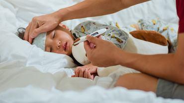 Jednym z objawów cytomegalii jest gorączka