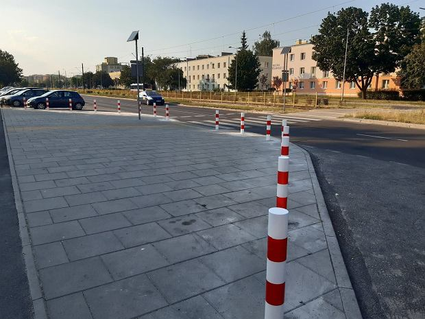 Słupki na Wojska Polskiego w Bydgoszczy
