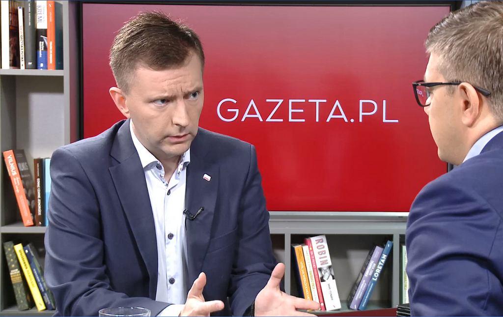 Łukasz Schreiber w porannej rozmowie Gazeta.pl