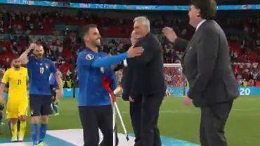 Spinazzola podczas ceremonii medalowej