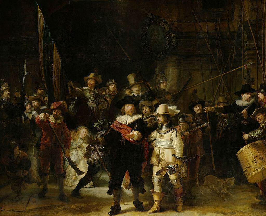 Rembrandt. Straż nocna (Wymarsz strzelców), 1642